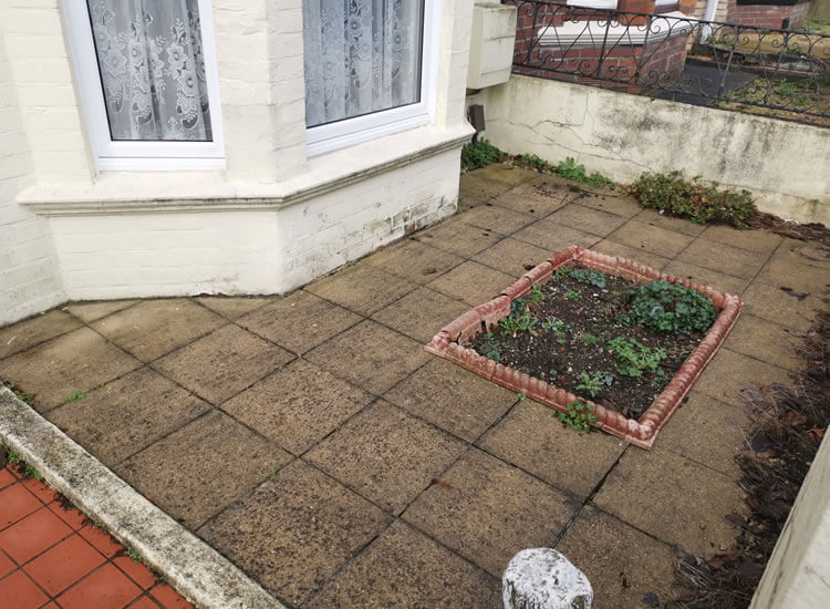 artificial turfing - before the artificial turf is laid - Jackson garden Services