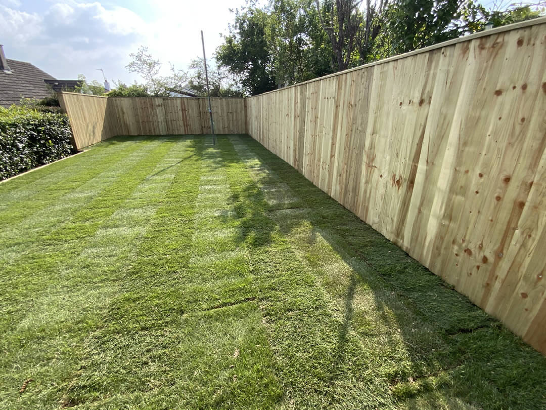 fencing repair - completed fence repair - Jackson Garden Services