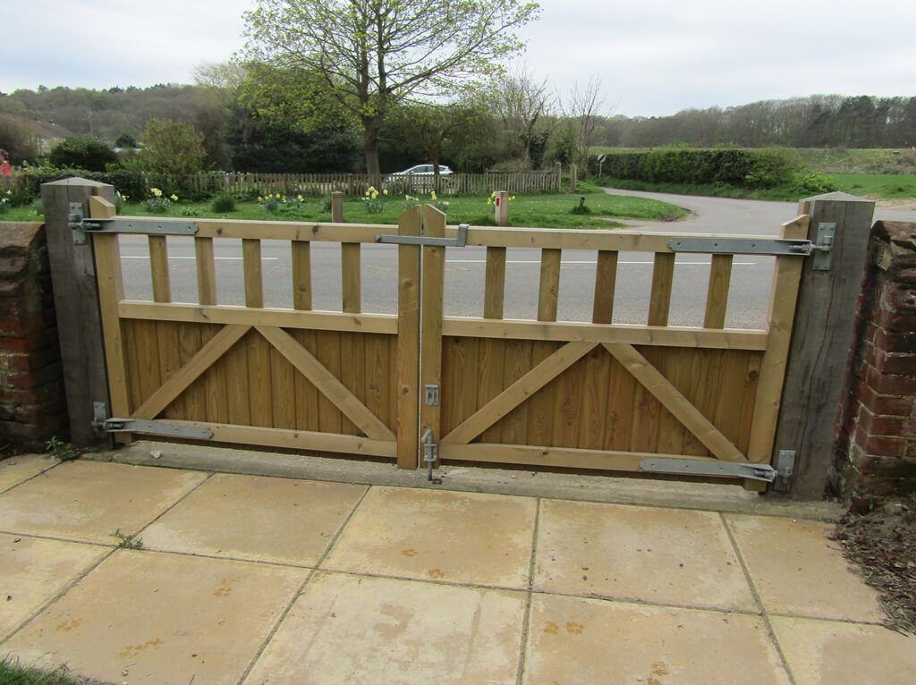 Fencing Contractors in Plymouth: Image of timber gate.