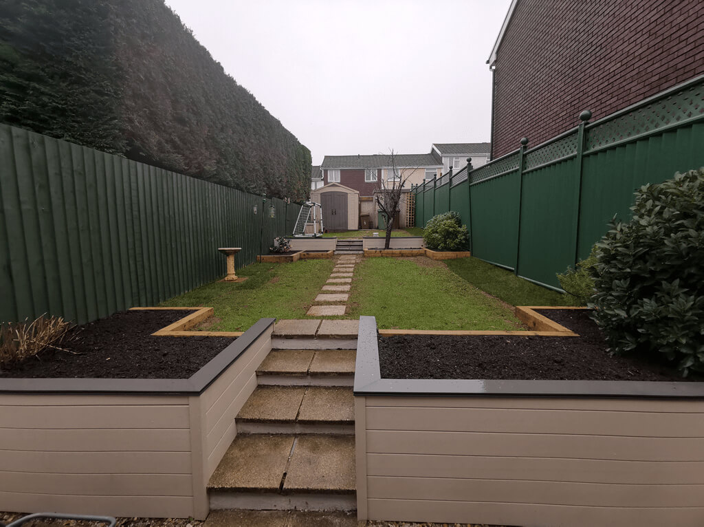 Landscaping Services: Image of a landscaped garden.